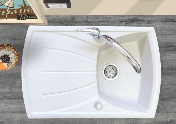 Gorenje bela granitna sudopera KVE 451 karbon