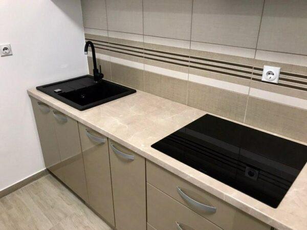 Set sudopera i slavina, granitna sudopera Gorenje KM 45 karbon i crna slavina Minotti 6118 B