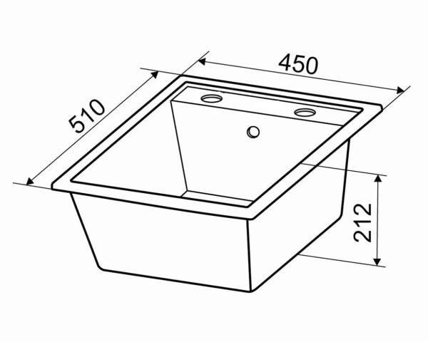 Granitna sudopera dimenzije Gorenje Simply 4