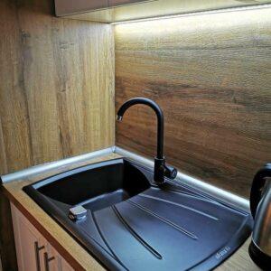 Gorenje granitna sudopera sa ocedjivačem KVE 451 karbon boje