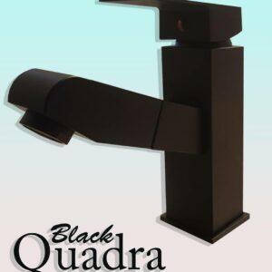 Crna slavina za sudoperu Quadra