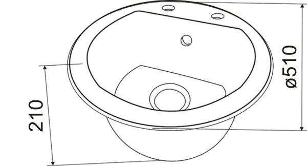 Granitna sudopera dimenzije Gorenje KM 12
