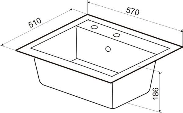 Granitna sudopera dimenzije Gorenje KM 15