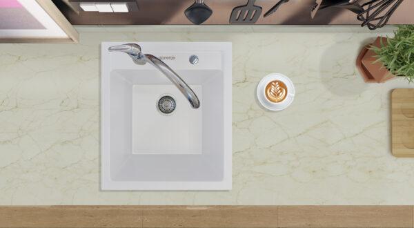 Bela granitna sudopera Gorenje Simply 4