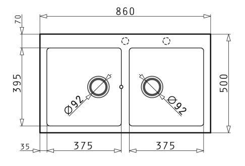 Gorenje 86 2B granitna sudopera dimenzije