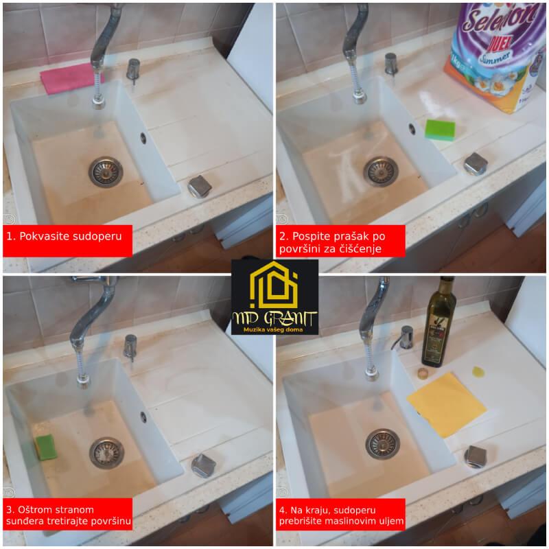 Održavanje granitnih sudopera
