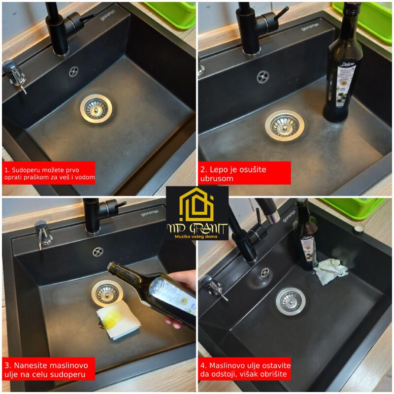 Čišćenje granitnih sudopera
