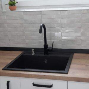 granitna sudopera km15 karbon gorenje blask swan slavina ugradni dozer za tečnost